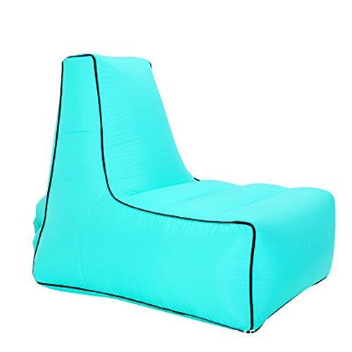 Ufblasbares Sofa Tragbare aufblasbare Sofa-Bett Außen Folding Air Sofa Lounge Chair Mittagspause Chair Aufblasbares Sofa für zu Hause (Farbe : J, Size : 100x80x90cm)