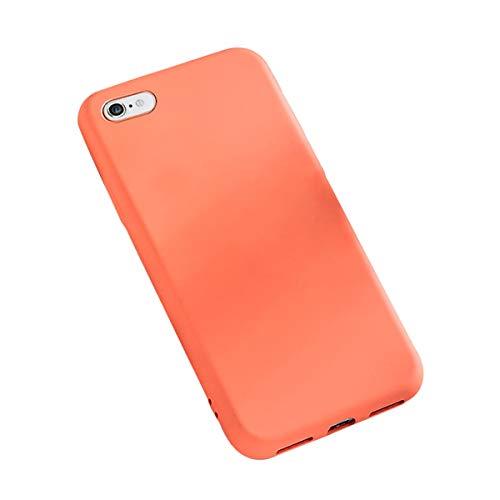 Funda iPhone 6 Plus / 6S Plus, Carcasa Silicona Suave Colores del Caramelo con Superfino Pelusa Forro,Anti-rasguños Protección Teléfono Case para iPhone 6 / 6S (iPhone 6 / 6S, Naranja)