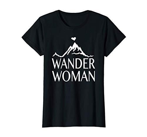Alpenherz Berge Gebirge Trekking Alpen Herz - Wander Woman T-Shirt