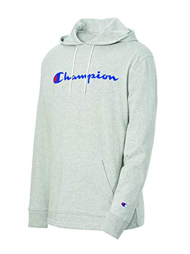 Champion Men's MIDDLEWEIGHT Hoodie, Oxford Gray, Large
