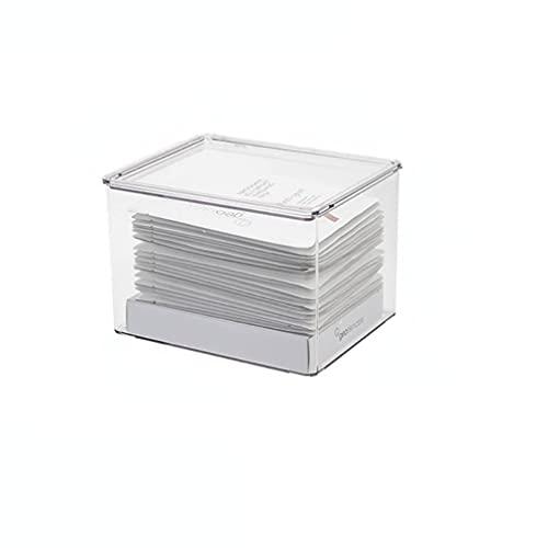 Caja de almacenamiento de brochas de maquillaje, caja de almacenamiento cuadrada de 3 capas, caja de almacenamiento cosmética de escritorio, lápiz de cejas delineador de ojos, Bambú,