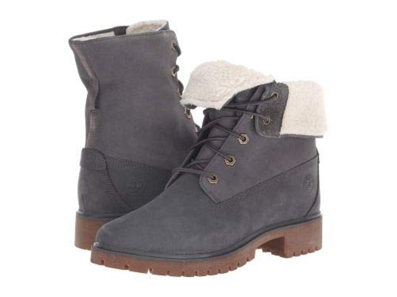 Timberland(ティンバーランド) レディース 女性用 シューズ 靴 ブーツ レースアップブーツ Jayne Waterproof Teddy Fleece Fold Down - Dark Grey Nubuck [並行輸入品]