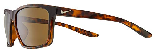 Nike CW4645-220 Valiant Sunglasses Tortoise Frame Color, Dark Brown Lens Tint
