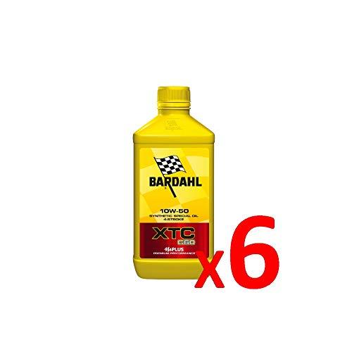 Bardahl Aceite Moto XTC C60 10W-50 sintético 4 tiempos 1 litro - 338140