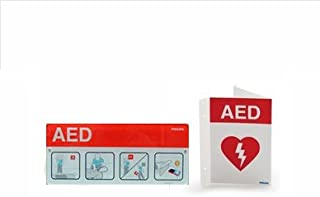 Philips HeartStart AED Defibrillator Sign, Placard, and Poster Bundle