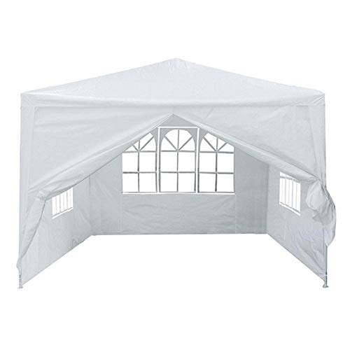 Zhengowen OS Tent 3mx3m 4 Side Walls Cover Outdoor Traveling Camping Tent Sunshade 2 Colors Unisex Outdoor Dome Tent (Color : White, Size : 3x3m)