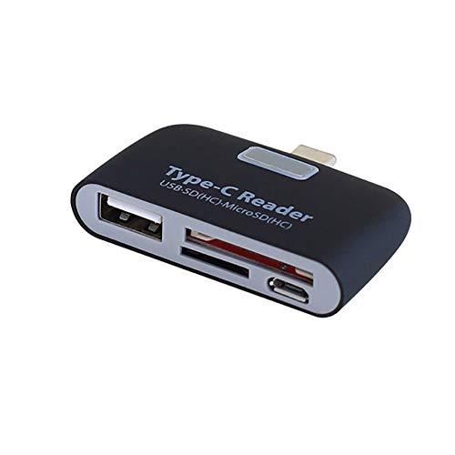 Peanutaoc Draagbare Mini USB C 3.1 C naar USB 3.0 OTG HUB Adapter SD/TF Micro SD geheugenkaartlezer Hoge prestaties