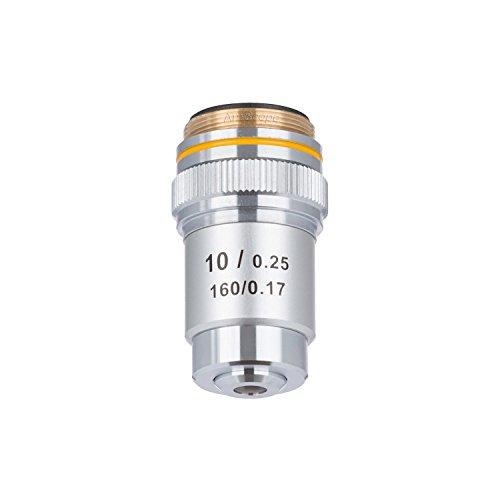 amscope A10X -v30010x Achromatisches Mikroskop Objektiv für Compound Mikroskope