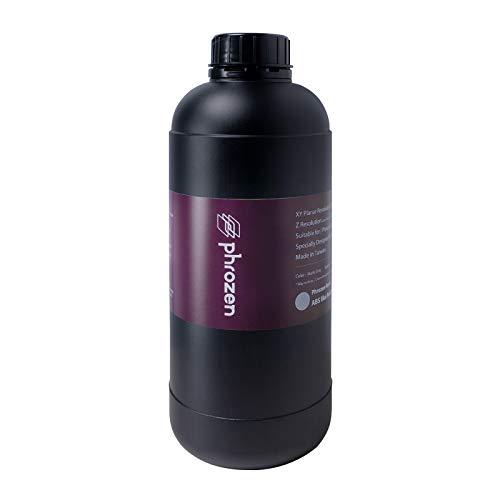 Resina grigia opaca simile all'ABS per stampante 3D Phrozen, resina fotopolimerica a polimerizzazione UV LCD da 405 nm, stampa ad alta precisione, quasi inodore, non fragile 1kg