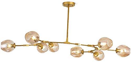 Decoración de Muebles Lámparas Colgantes Norte de Europa Sputnik Candelabro Bola de Cristal Creativa Sombra de luz Lámpara Colgante de lágrima soplada a Mano Ajustable para Restaurante Dormitorio