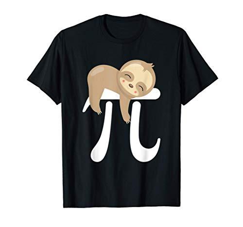 Bebé Perezoso Símbolo Pi Día Pi Matemáticas Geek Camiseta