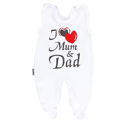 TupTam Pelele para Bebé con la Frase I Love Mum and Dad, I Love Mamá y Papa, 80