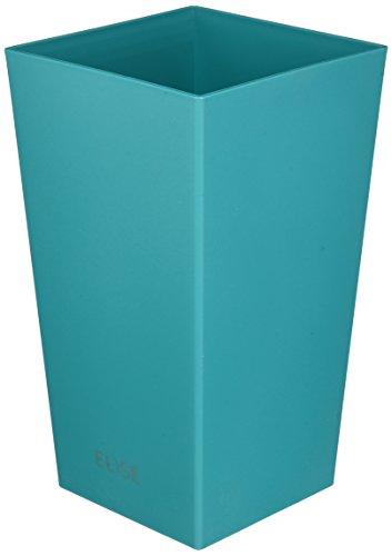 Plastkon Décoration Pot en Turquoise et Outdoor Pot Elise Mat 15 cm