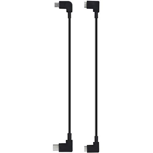 Hunpta@ 30cm Fernbedienungskabel für DJI Mavic Air 2/ Pro Zoom, Micro USB/Typ C USB bis OTG USB für Handy und Telefontablett Drohne Fernbedienungs Kable