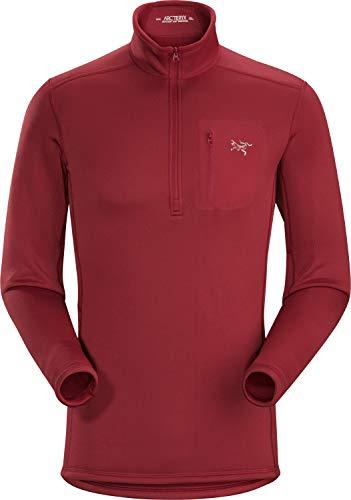 Arc'teryx Rho Ar Zip Neck T-shirt à manches longues pour homme S Plage rouge