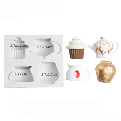 YiYuDe Moldes para Caramelos Molde De Silicona De Chocolate Fondant Ice Cream Candy Decoración De Silicona, Estilo 1