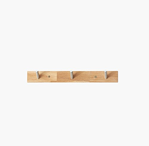YXW-NMLB Kleiderhaken, Wandgarderobe Aus Massiver Eiche, Wanddekorationshaken, Verandawanddekorationshaken (Size : 40 * 5cm)