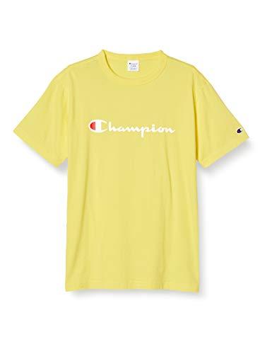 [チャンピオン] Tシャツ 半袖 綿100% 定番 スクリプトロゴプリント ショートスリーブTシャツ C3-P302 メンズ レモン L