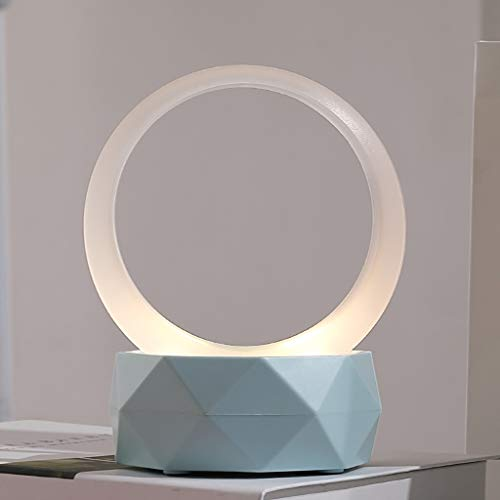 Zgywmz Night Light Bluetooth Speaker Handige Radio LED Perdurable En Non-slip Bluetooth Speaker Draagbare luidspreker (Kleur : Wit)