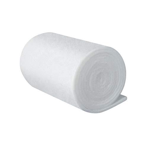 POPETPOP Esponja de Filtro de Fibra para Acuario, Almohadilla de Espuma de Filtro Bioquímico, Almohadilla de Esponja de Filtración para Pecera, 200x12cm (Blanco)