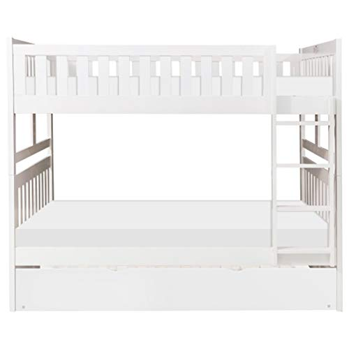 HOMELY IDEAS Bunk Bed Single Fitted Sheets 100% Poly Cotton Easy Care, Caravan, Kids Bedding ( WHITE, BUNK BED 25CM)