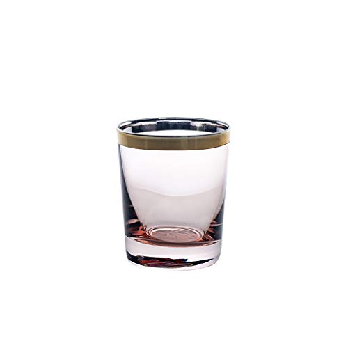 Vaso Taza de Cerveza Taza de Doble Pared Embalos de Bebidas Personalizadas Cocteles Personalizados para Bebidas de Té de Cerveza Cristalería (Color : Pink)