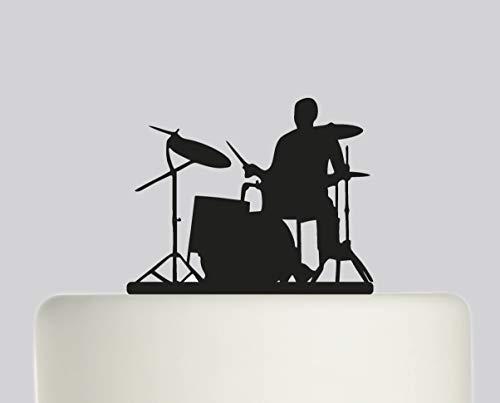 Geburtstagskuchenaufsatz – Schlagzeug Happy Birthday – Acryl Kuchenaufsatz – Happy Birthday