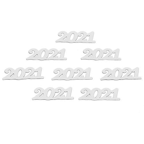 Semiter Decoraciones de Confeti, Exquisito Adorno de Confeti para Fiesta de año Nuevo para certificados de graduación para decoración de Mesa para Invitaciones de Fiesta