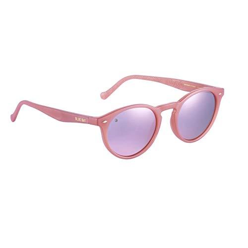 BLUE BAY SACALIA, Gafas de Sol Polarizadas para Hombre y Mujer, 100% Protección UV, Gafas de Sol Sostenibles de Material Reciclado, Ligeras y Flexibles, Montura Rosa y Cristales Rosas, 20 gramos