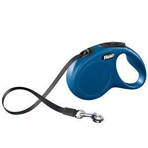 Flexi Classic Tape-Hundeleine, Größe M/L, Blau, 5 m