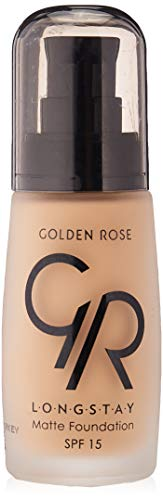 Matte Long Wear Oil Free Foundation with SPF 15, 06 - Sand by Golden Rose