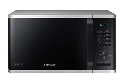 Samsung MG23K3515AS/EG Mikrowelle mit Grill / 800 W / 23 L Garraum / 48,9 cm Breite / Quick Defrost / 27 Automatikprogramme / silber