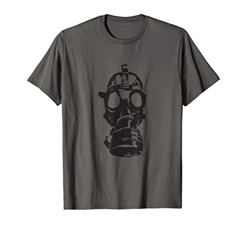 Gas Mask Cool Novelty Graphic Everyday T-shirt Tee