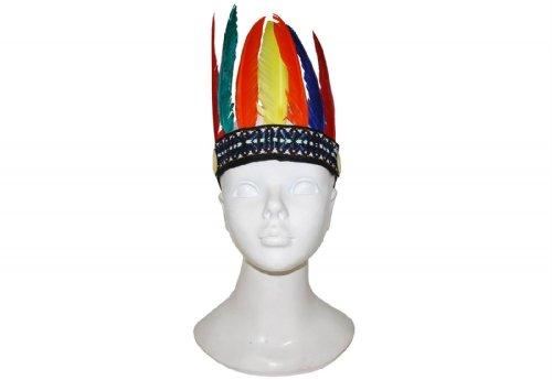 Generique - Indianer Kopfbedeckung mit Federn für Kinder