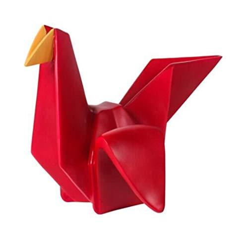 DECORACIÓN XIN Escultura Geométrica De Origami Animal. Sala De TV Mueble Decorado con Rinoceronte. Pájaros Y Adornos De Grullas De Papel hogar