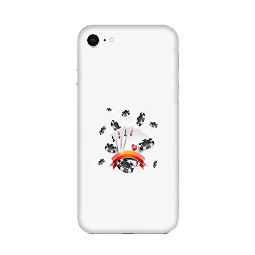 Funda Carcasa Compatible con Apple iPhone 6 Juego de póquer Tarjetas con Peces/TPU Suave Gel de Silicona/Teléfono Hard Snap en Antideslizante Anti-Rayado Resistente a los Golpes TPU