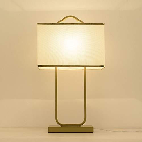 Cinese moderno Tessuto vetro Lampada da Tavolo Lampada da comodino Metallo dorato Lampada da Tavolo per soggiorno, tessuto lampada da tavolo con interruttore per Camera da letto e sala di studio,D
