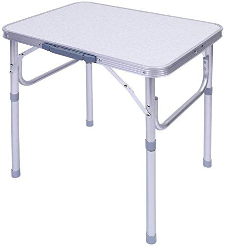 LRHYG Picnic Folding Table Portable Aluminum Folding Table Party Garden BBQ Camping Table Adjustable Height Lightweight Patio Square Folding Table
