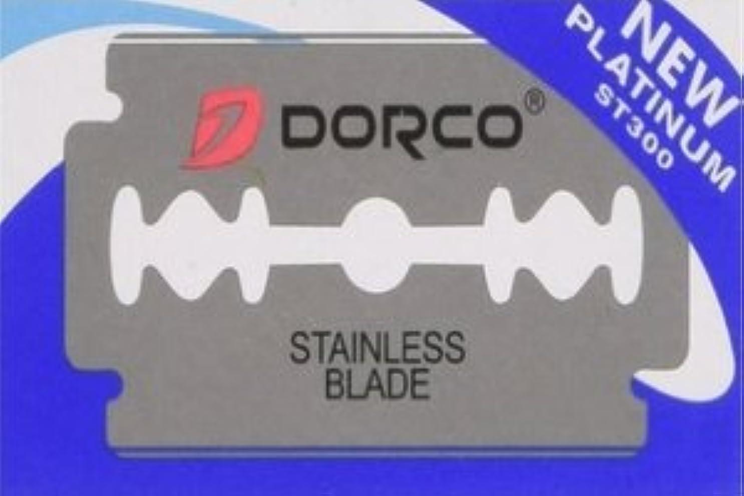 ストラトフォードオンエイボン襲撃お母さんDorco ST-300 Platinum 両刃替刃 100枚入り(10枚入り10 個セット)【並行輸入品】
