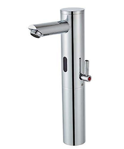 Gangang Waschbecken-Armatur mit Automatischem IR-Sensor, Sensor-Wasserhahn,Automatischer Wasserhahn,Hoher Körper, Moderne Waschbecken-Mischbatterien,nur Gleichstrom…