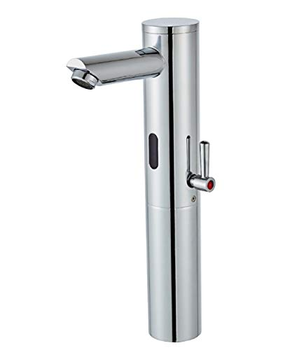 Gangang Grifo Automático,Grifo sin Contacto,Grifo de Lavabo Automático con Sensor IR de Alto Cuerpo Para Lavabo Moderno y Sin Contacto Para Agua Fría y Caliente, Solo CC…