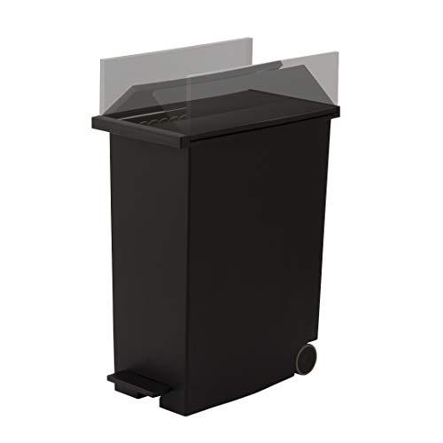 KEYUCA (ケユカ) arrots ダストボックスⅡ ブラック (27L / ペダル式) ゴミ箱 後輪キャスター付き 分別 ふた付き