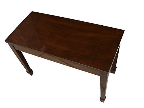 Walnut Wood Top Grand Piano Bench Stool with Music Storage