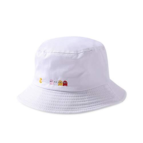 DORRISO Mujer Sombrero de Sol Visera Protección UV Turismo Playa Vacaciones Visera Sombrero Algodón Blanco