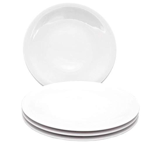 Kahla 32B262A90032C Update Tellerset XXL Teller für 4 Personen Porzellanteller Set 4-teilig Speiseteller flach Teller rund weiß Essteller ohne Dekor
