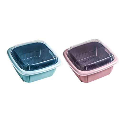 LJP Plateau de Fruits Fruit Basket 2 Pack- Fruit Bowl Cuisine Countertop Porte-légumes décoratifs Support, Multifonctions Cuisine Conteneur Rangement Fruit (Color : Pack of 2)