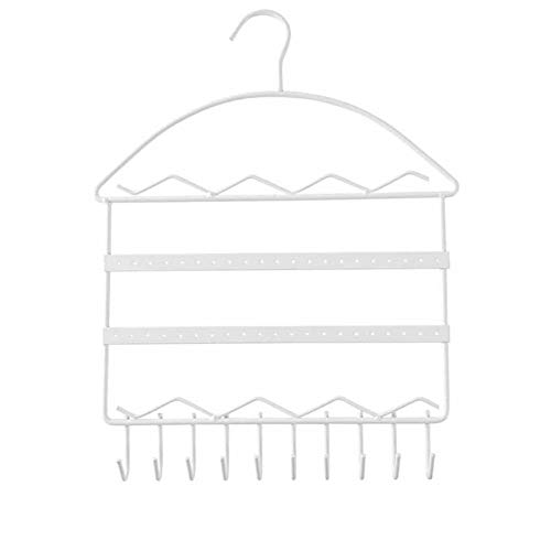 EFGUFHC Organizador de almacenamiento para joyas, pendientes, colgantes, para colgar en la pared, collares, colgantes y decoraciones para el hogar removibles (color: blanco)