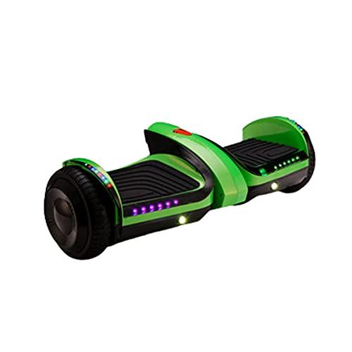Patinetes Acrobacias Electricos Adultos Ninas Adolescentes Scooter autoequilibrado 6 Pulgadas Spray 250W,Green