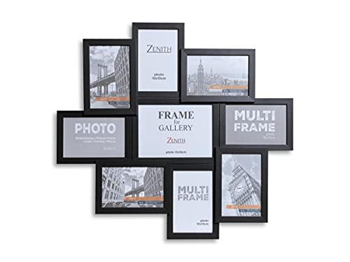 Victor Bilderrahmen Collage in Schwarz aus Holz mit 9 Bildern (8 x 10x15cm; 1 x 13x18cm)