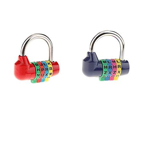 MERIGLARE Equipaje con Candado de Combinación de 2 Letras Y 4 Dígitos